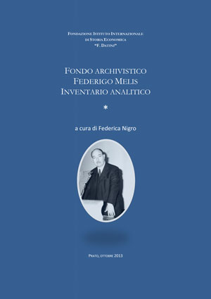 Frontespizio del volume dell'inventario F. melis